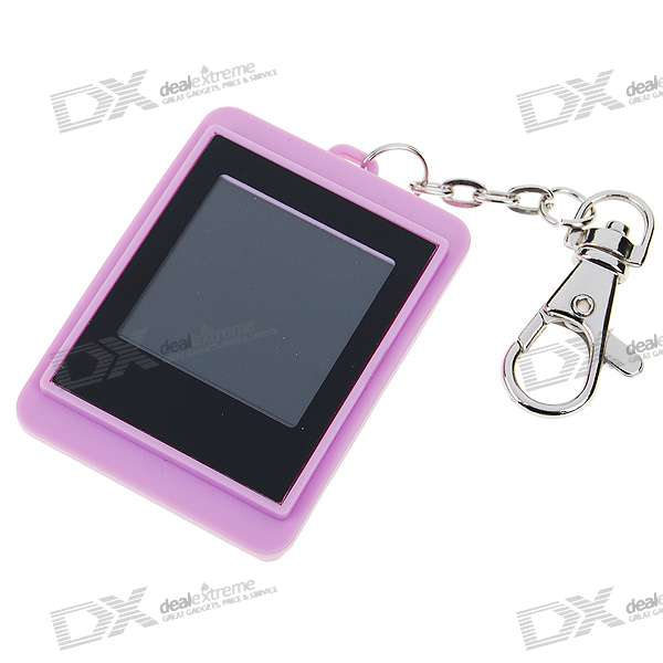 "1.5"" LCD Rechargeable Digital USB Photo Frame Keychain with Built-in 8M Memory for 140 Photos"