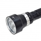 SolarStorm DX4 4-LED 2400lm 3-Mode White Diving Flashlight - Black (2 x 18650 / 26650)