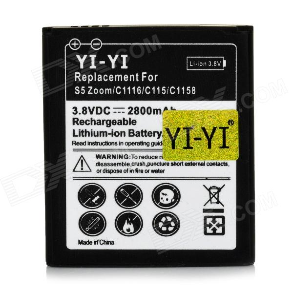 3.8V 1800mAh Rechargeable Li-ion Battery for Samsung Galaxy S5 Zoom / C1116 / C115 / C1158 - Black аккумулятор samsung eb bg900bbegru для samsung galaxy s5 li ion 2800 mah оригинальный