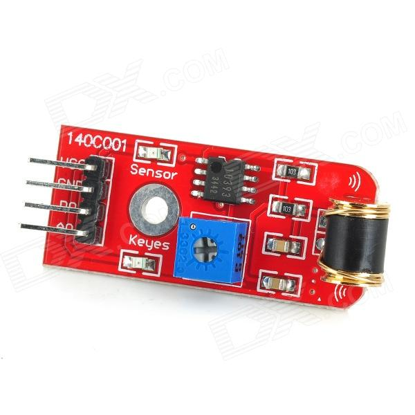 Adjustable Sensitivity Vibration Sensor Module for Arduino - Red (Works with Official Arduino Board) чехол для iphone interstep для iphone x soft t metal adv красный