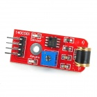 Adjustable Sensitivity Vibration Sensor Module for Arduino - Red (Works with Official Arduino Board)