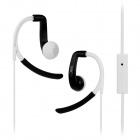 IN-042 Sports In-Ear Earphone for IPHONE, Samsung, HTC, Xiaomi - White + Black