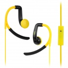 IN-042 Sports In-Ear Earphone w/ Mic for IPHONE, Samsung, HTC, Xiaomi - Black + Yellow