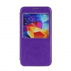 Elonbo Solid Flip Open PU Leather Case w/ Stand for Samsung Galaxy S5 - Purple