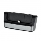 Battery / Cell Phone Charging Stand w/ USB / Micro USB / OTG Port for LG G Pro 2 - Black + Grey