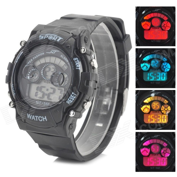 Men's Digital Display LED Sport Watch - Black (1 x SR621)