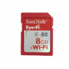 SanDisk Eye-Fi SDHC Wireless Wi-Fi Memory Card - Red (8GB / Class 4)