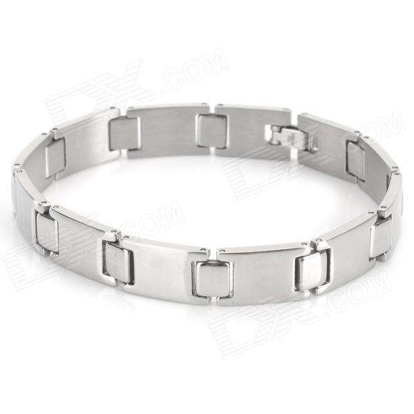 SHIYING SLX000069 Men's Cool 316L Stainless Steel Bracelet - Silver shiying sl00090 316l stainless steel bracelet for men silver