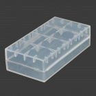 PP 18650 / CR123A  /16340 / CR2 / 15270 Battery Storage Box - Translucent White (5 PCS)