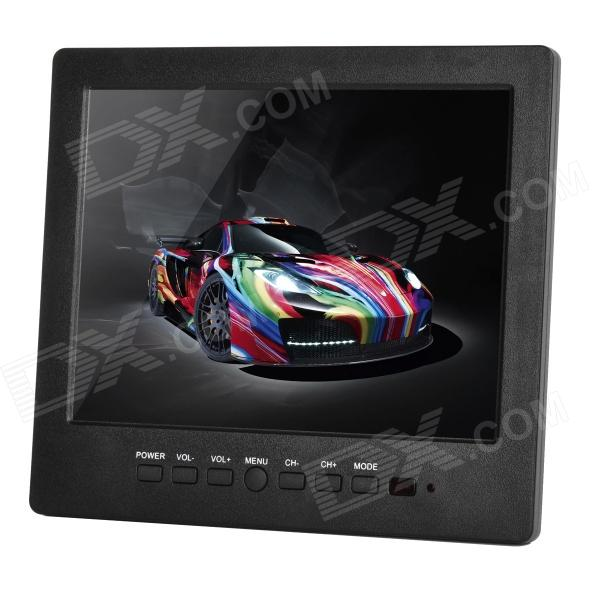 "L8008HD 8.0 ""TFT LCD Screen Display monitor do carro w / Stand + Speaker + Cabo VGA - Preto"