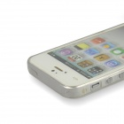 Angibabe 0,3 mm ultra-mince protection arrière TPU pour IPHONE 4 / 4 s - blanc