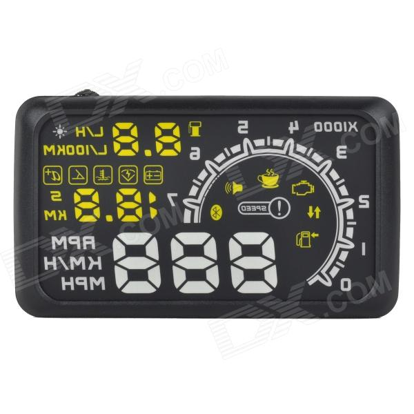 "5.5"" Car HUD Head UP Display w/ Bluetooth + OBD II Interface - Black"