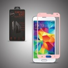 Angibabe Premium Tempered Glass Front Protector Film for Samsung Galaxy S5 - Pink