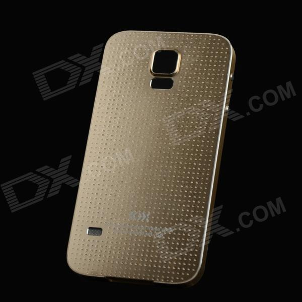 Protective Aluminum Alloy Back Case for Samsung Galaxy S5 - Champagne Golden