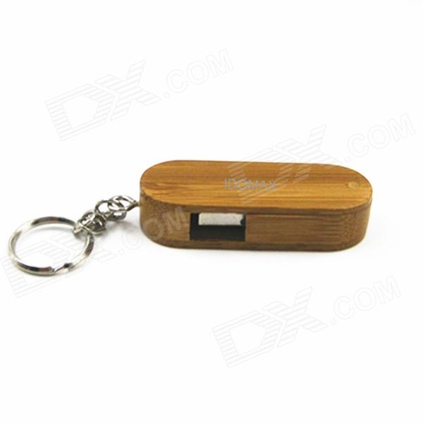 IDOMAX M027 Rotatable Wood + Bamboo USB 2.0 Flash Drive - Brown (8GB)