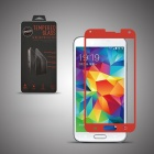 Angibabe Premium Tempered Glass Front Protector Film for Samsung Galaxy S5 - Red