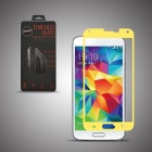 Angibabe Premium Tempered Glass Protector Film for Samsung Galaxy S5 - Yellow