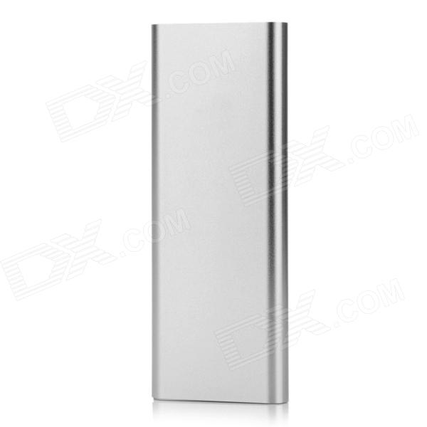 BP 4000mAh Aluminum Alloy Li-polymer Mobile Power Source for IPHONE 6 / 5S / Samsung - Silver bp 4000mah aluminum alloy li polymer mobile power source for iphone 6 5s samsung golden