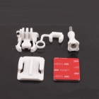 PANNOVO Riding Skydiving Curve Surface Helmet Mount Set for Gopro Hero 2/3/3+ / SJ4000 - White