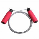 ZIQIAO T-223 Exercise Fitness Schwamm Griff Steel Wire Jumping Rope Skipping - Rot + Silber (2,8 Mio.)