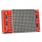 16 x 16 LED matriz w / Dupont Cables / Pin Headers para Arduino - rojo