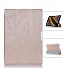 Protective PU Leather Case Cover w/ Magnetic Closure for Windows Surface Pro 3 12'' - Champagne Gold