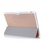 Beskyttende PU skinn tilfellet Cover med Magnetic Closure for Windows Surface Pro 3 12'' - Champagne Gullet