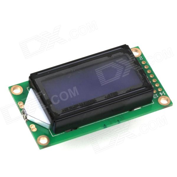 ZnDiy-BRY 1.7'' LCD Screen 0802B  8 x 2 Blue Character Module for Arduino