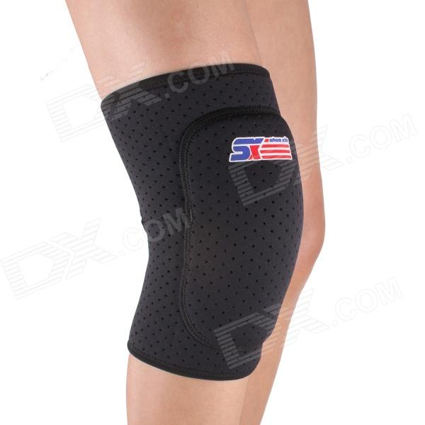 ShuoXin SX614 Thickened Breathable Sports Knee Guard Protector Sleeve - Black 300cc 330cc thickened silicone sleeve adapter