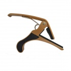 DEDO MA-9 Clip-on Quick Release Zinc Alloy + Rubber Capo for Ukulele - Golden