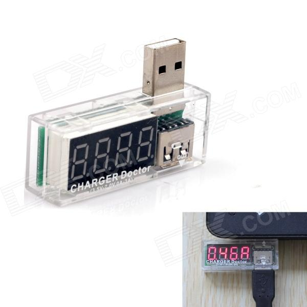 3.3 LED 4-Digit Red Display 3.5~7V 0~3A USB Power Charger Current Voltage Tester 100 pcs ld 3361ag 3 digit 0 36 green 7 segment led display common cathode