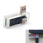 "3.3"" LED 4-Digit Red Display 3.5~7V 0~3A USB Power Charger Current Voltage Tester"