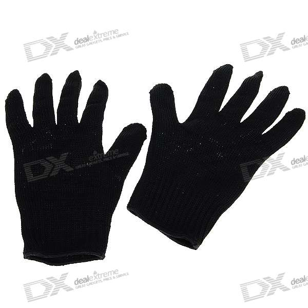 Knife Cut Resistant Gloves - Black (Pair)