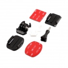 PANNOVO Board Surf Snowboard Riding Skydiving Helmet Mount Set for Gopro Hero 4/ 2/3/3+ / SJ4000