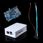 Fine Source DIY-w Banana Pi Board + Sata Line Cable + ABS Case Box for Banana Pi - White + Blue