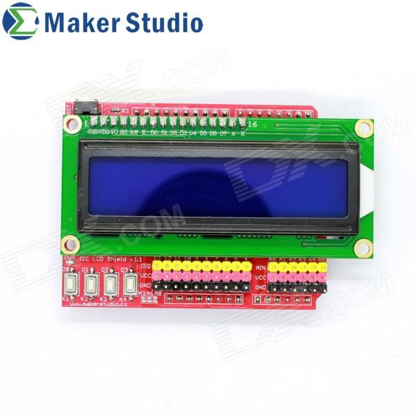 Maker Studio I2C LCD Shield - Rot