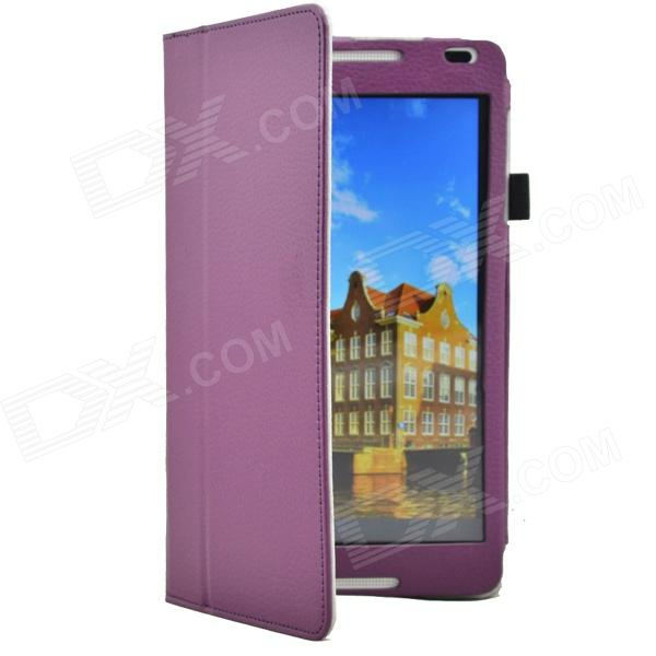 Lichee Pattern Protective PU Leather Case for Huawei 8 MediaPad M1 - Purple mediapad m3 lite 8 0 skin ultra slim cartoon stand pu leather case cover for huawei mediapad m3 lite 8 0 cpn w09 cpn al00 8