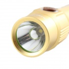 KINFIRE K20 Mini 3W 180lm E1215 3-Mode USB Charging White Light LED Flashlight - Gold (1 x 18650)