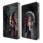 Ultra Slim Thin Cool Beauty Lady Pattern 3D Design Smart PU Leather Folded Case Cover for IPAD MINI