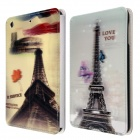 Eiffel Tower Pattern 3D Design Smart PU Leather Folded Case Cover for IPAD MINI
