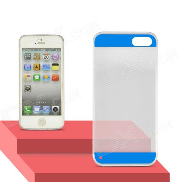 Angibabe Transparent 0.3mm Ultra Slim Soft TPU Gel Jelly Back Cover for IPHONE 5 / 5S - Blue glossy jelly tpu gel case for iphone 6s 6 4 7 inch solid black