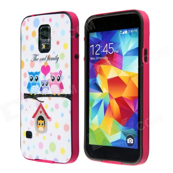Fashion Three owls Love Family Pattern Protective Plastic Back Case for Samsung Galaxy S5 насос unipump акваробот jet 100 l г а 2л 45190