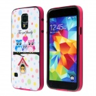 Fashion Three owls Love Family Pattern Protective Plastic Back Case for Samsung Galaxy S5