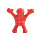 Creative Happy Men Style Plastic Bottle Stopper - Red + Black