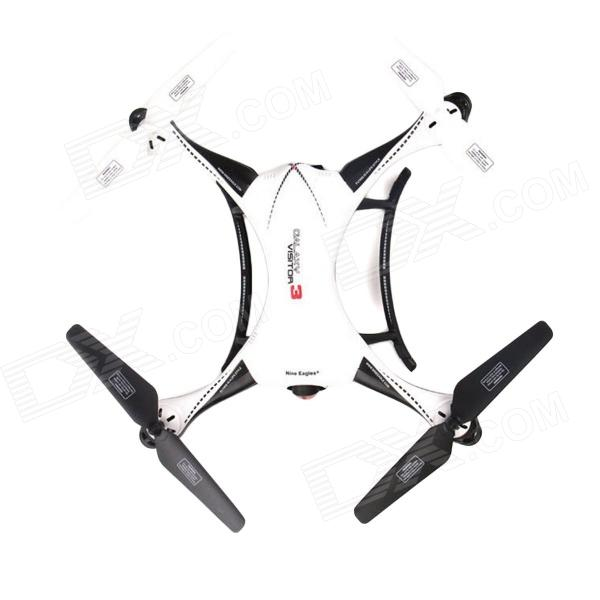 Nine Eagles Galaxy Visitor3 2.4G 4CH R/C Quadcopter RTF w/ 1.3MP 720p Camera  for FPV - White