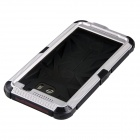 Redpepper Case Aluminum Alloy Silicone Shockproof Case for HTC One M8 - Black + Silvery White