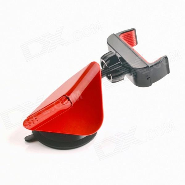 360' Rotation Car Suction Cup Stand Holder Mount Bracket for GPS / Cell Phone - Black + Red