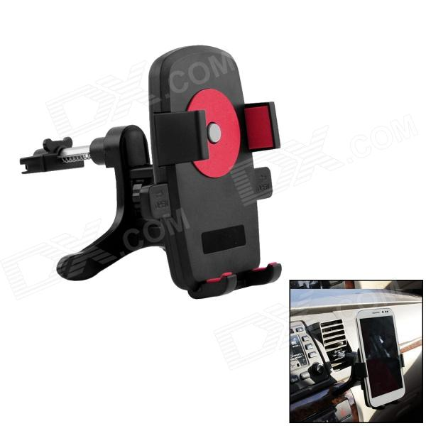 360' Rotation Car Air Conditioning Vent Mounted Holder Bracket for Cellphone / GPS - Black + Red