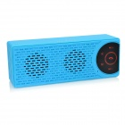 HY HY-BT72 Magnetic Induction Bluetooth V2.0 Speaker w/ 3.5mm / USB 2.0 / Mic. / FM / TF Slot - Blue