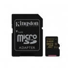 Kingston Digital 64GB MicroSDXC CL10 UHS-I 90R/45W with Adapter (SDCA10/64GB)